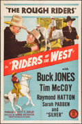"Movie Posters:Western, Riders of the West (Monogram, 1942). One Sheet (27"" X 41""). Western.. ..."