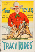 "Movie Posters:Western, Tracy Rides (William Steiner, 1935). Stock One Sheet (27"" X 41""). Western.. ..."
