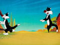 """Animation Art:Production Cel, The Daffy Duck Easter Special """"The Yolks On You"""" Sylvesterthe Cat Production Cel (Warner Brothers, 1980). ... (Total: 2Original Art)"""
