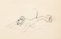 Animation Art:Production Drawing, Pluto's Quin-puplets Animation Drawing (Walt Disney,1937).... (Total: 2 Original Art)