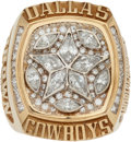 Football Collectibles:Others, 1995 Dallas Cowboys Super Bowl XXX Championship Ring Presented to Larry Brown....