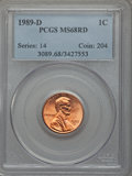 Lincoln Cents: , 1989-D 1C MS68 Red PCGS. PCGS Population (49/0). NGC Census: (14/0). Numismedia Wsl. Price for problem free NGC/PCGS coin ...