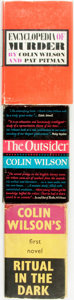 Books:Mystery & Detective Fiction, [Colin Wilson]. Trio of First Editions. Titles include: Ritualin the Dark. London: Victor Gollancz Ltd, 1960. First...(Total: 3 Items)