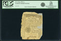 Colonial Notes:Vermont, State of Vermont 1781 1 Shilling Fr. VT-1. PCGS Fine 15 Apparent.. ...