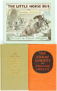 [Graham Greene]. Trio of First Editions, Two of Which are SIGNED/LIMITED. Titles include: The Little Horse Bus