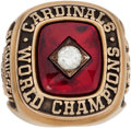 Baseball Collectibles:Others, 1982 St. Louis Cardinals World Championship Ring Presented to EricRasmussen....