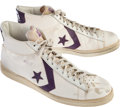 Basketball Collectibles:Others, Early 1980's Magic Johnson Game Worn Shoes - From Family of Sandy Grossman. ...