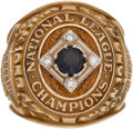 Baseball Collectibles:Others, 1953 Brooklyn Dodgers National League Championship Ring Presented to Billy Cox....