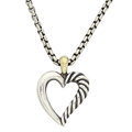 Estate Jewelry:Necklaces, Sterling Silver, Gold Pendant-Necklace, David Yurman. ...