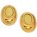 Estate Jewelry:Earrings, Gold Cameo Earrings. ...