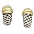 Estate Jewelry:Earrings, Sterling Silver, Gold Earrings, David Yurman. ...