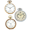 Timepieces:Pocket (post 1900), A Lot Of Three Pocket Watches Howard Is 14k Gold Runners. ...(Total: 3 Items)