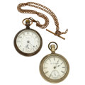Timepieces:Pocket (post 1900), Two Elgin 18 Size Pocket Watches Runners. ... (Total: 2 Items)