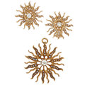 Estate Jewelry:Suites, Diamond, Seed Pearl, Gold Jewelry Suite. ... (Total: 2 Items)