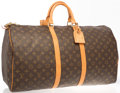 "Luxury Accessories:Travel/Trunks, Louis Vuitton Classic Monogram Canvas Keepall 55 Weekender Bag .Good to Very Good Condition . 21.5"" Width x 12""Heigh..."