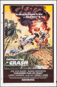 """Checkered Flag or Crash & Others Lot (Universal, 1977). One Sheets (24) (27"""" X 41""""). Sports. ... (Tota..."""