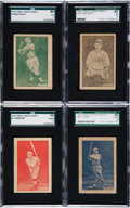Baseball Cards:Lots, 1933 R317 Uncle Jacks Candy Baseball Hall of Famers Color Type Set(4). ...
