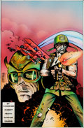 Original Comic Art:Covers, Rick Burchett and Julia Lacquement Sgt. Rock Special #9Hand-Colored Blueline Cover Original Art (...