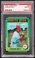Baseball Cards:Singles (1970-Now), 1975 Topps Mini Carlos May #480 PSA Gem Mint 10....
