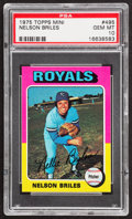 Baseball Cards:Singles (1970-Now), 1975 Topps Mini Nelson Briles #495 PSA Gem Mint 10....