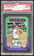 Baseball Cards:Singles (1970-Now), 1975 Topps Mini Jim Nettles #497 PSA Mint 9....