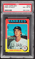 Baseball Cards:Singles (1970-Now), 1975 Topps Mini Fred Stanley #503 PSA NM-MT 8....