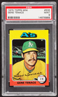 Baseball Cards:Singles (1970-Now), 1975 Topps Mini Gene Tenace #535 PSA Mint 9....