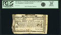Colonial Notes:New Hampshire, New Hampshire November 3, 1775 40 Shillings ContemporaryCounterfeit Fr. NH-152. PCGS Very Fine 35 Apparent.. ...