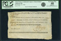 Colonial Notes:Continental Congress Issues, United States Congress Federal Indent September 27, 1785 $6 Fr. UNLAnderson-168. PCGS Extremely Fine 40 Apparent.. ...