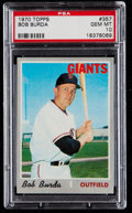 Baseball Cards:Singles (1970-Now), 1970 Topps Bob Burda #357 PSA Gem Mint 10 - Pop Two....