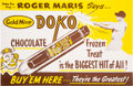"Baseball Collectibles:Others, 1962 Roger Maris ""Gold Mine Doko"" Ice Cream AdvertisingPoster--Only Example Known...."
