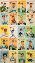 Baseball Cards:Other, 1954 Wilson Franks Complete Set Uncut Sheet....