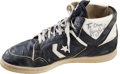 Basketball Collectibles:Others, 1980's Larry Bird Game Worn Shoe - From Family of Sandy Grossman. ...