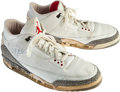 Basketball Collectibles:Others, 1987-88 Michael Jordan Game Worn, Signed Shoes - From Family ofSandy Grossman. ...