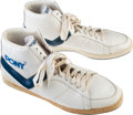 Basketball Collectibles:Others, 1984-85 Darryl Dawkins Game Worn Shoes - From Family of SandyGrossman. ...
