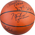 Basketball Collectibles:Balls, 1984 US Olympics Team Signed Basketball. ...