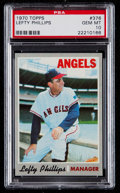 Baseball Cards:Singles (1970-Now), 1970 Topps Lefty Phillips #376 PSA Gem Mint 10 - Pop Three....