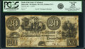 Obsoletes By State:Arkansas, Batesville, AR - Bank of the State of Arkansas $20 Jan. 1, 1839 AR-10 G124, Rothert 31-3. PCGS Very Fine 25 Apparent.. ...