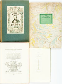 [Grabhorn Press]. Group of Four Fine Press Books, Three of Which Are LIMITED EDITIONS. Grabhorn Press, [various dates