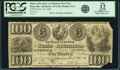 Obsoletes By State:Arkansas, Batesville, AR - Bank of the State of Arkansas $100 Post Note Jan. 20, 1838 AR-10 G140, Rothert 31-5. PCGS Fine 12 Apparent....