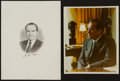 Miscellaneous Collectibles:General, Richard Nixon Signed Engraving and Photograph....