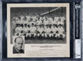 Baseball Collectibles:Photos, 1940 WREN, KCKN, General Mills/Mobil Oil Kansas City Blues TeamPhoto BGS VG 3 - With Phil Rizzuto. ...