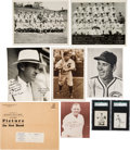 Baseball Collectibles:Others, 1931 - 1939 Chicago Cubs Team Issue Cards, Picture Packs, Cuyler(Burke) Premium and Team Photos (8 Items). ...