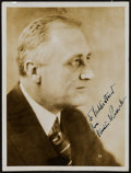 Miscellaneous Collectibles:General, Franklin D. Roosevelt Signed Photograph - Dr. Harlen HunterCollection....