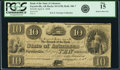 Obsoletes By State:Arkansas, Fayetteville AR - Bank of the State of Arkansas $10 Post Note April 6, 1838 AR-10 G158, Rothert 186-7. PCGS Fine 15.. ...
