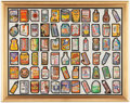 Non-Sport Cards:Sets, 1979 Topps Wacky Packages Series #1 uncut sheet with 66 stickers....