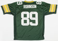 Football Collectibles:Uniforms, Dave Robinson Signed and Stat Inscribed Green Bay Packers Jersey....