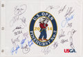 Golf Collectibles:Autographs, 2014 U.S. Open Multi Signed Flag - With Jordan Spieth!...
