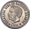 Coins of Hawaii, 1881 5C Hawaii Five Cents, Medcalf 2CN-1, KM-2, -- Mount Removed --PCGS Genuine. ...