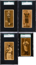 Baseball Cards:Lots, 1911 E136 Zeenut SGC Graded Type Card Group (4). ...